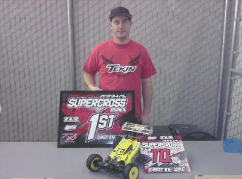 Brian Sullivan TQ's And Wins At The TLR Supercross