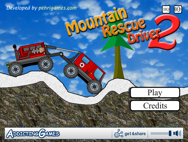 Mountain rescue driver 2 rc car action.