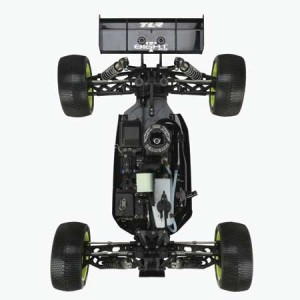 tlr, Team Losi Racing 1/8 8IGHT-T 2.0 4WD Truggy Kit, truggy, team losi racing, rcca, radio control, rc car action, photo 2, black,