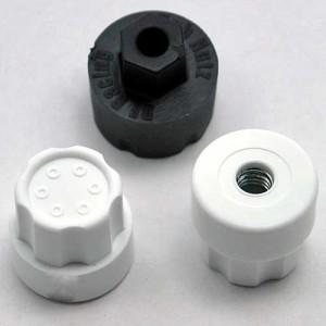 "DE Racing New Website, ""Trinidad"" Wheels, Losi XXX-SCT, Silver Option Part Line-up, rcca, radio control, rc car action, photo 3, white and black knobs, white screws"