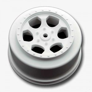 "DE Racing New Website, ""Trinidad"" Wheels, Losi XXX-SCT, Silver Option Part Line-up, rcca, radio control, rc car action, white front wheel, photo 4, screws"