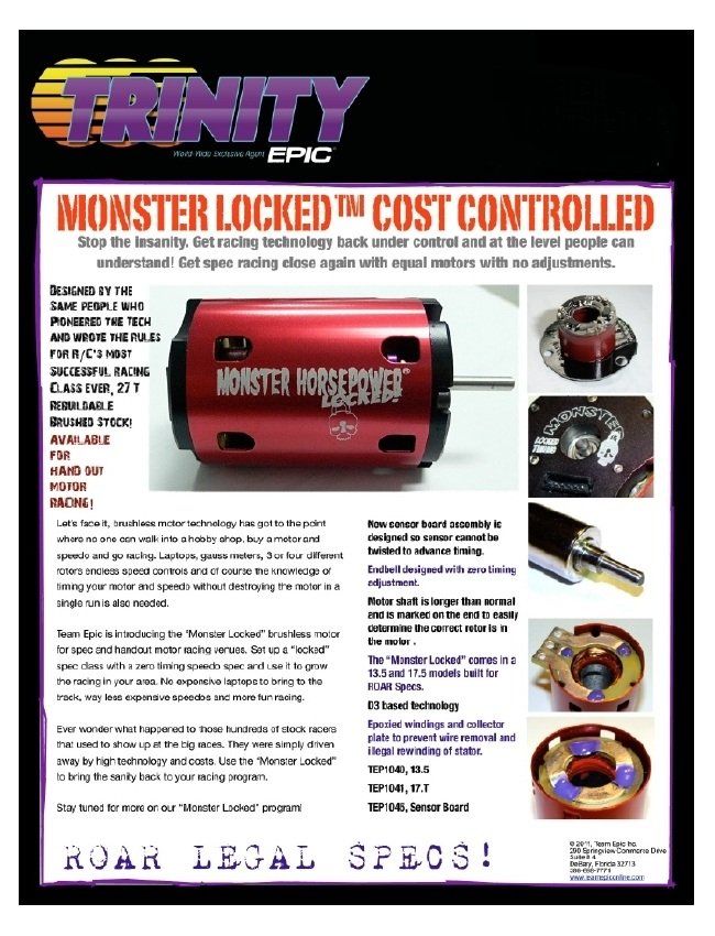 Epic Monster Locked Brushless Motors