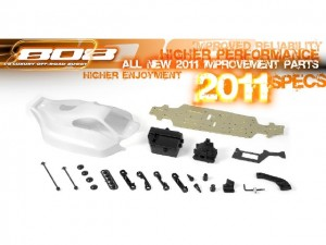 XRAY 808 1/8 Buggy 2011 Version, rcca, radio control, rc car action, higher performance, specs 2011, 2011 improvement parts, photo 3
