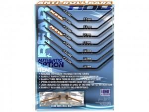 XRAY XB808 Rear Anti-Roll Bars, authentic option rear, rcca, radio control, rc car action