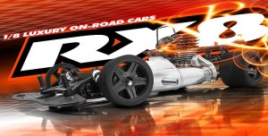 XRAY RX8 1/8 On-Road Car, rcca, radio control, rc car action, photo 3, fire, silver