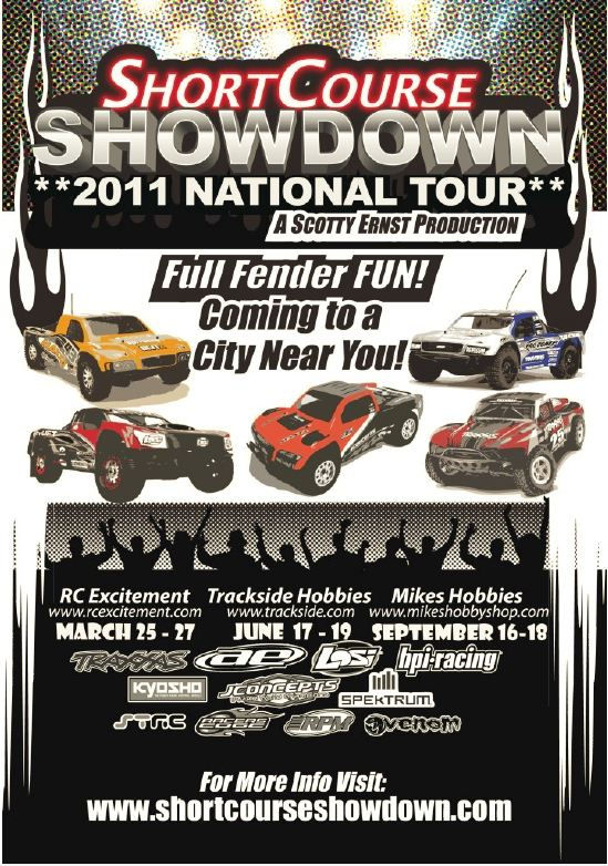 Short Course Showdown March 25-27 At R/C Excitement