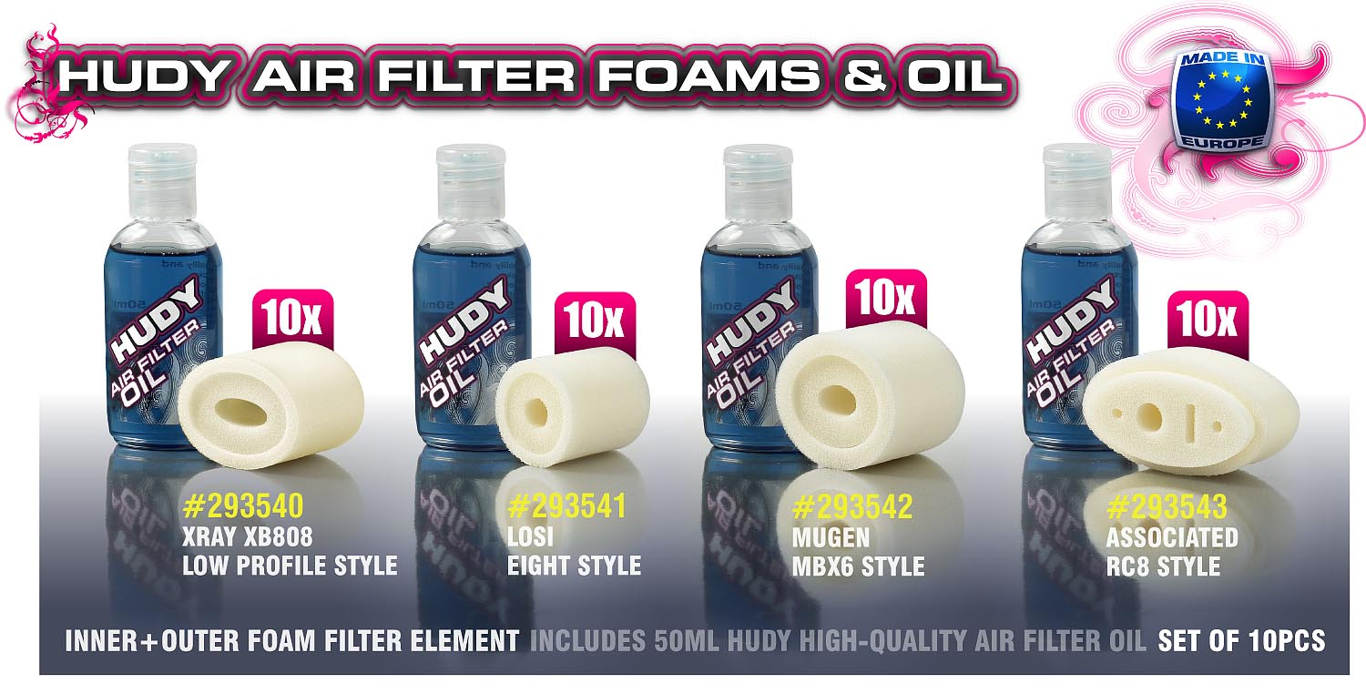 HUDY Air Filter Foams And Oil