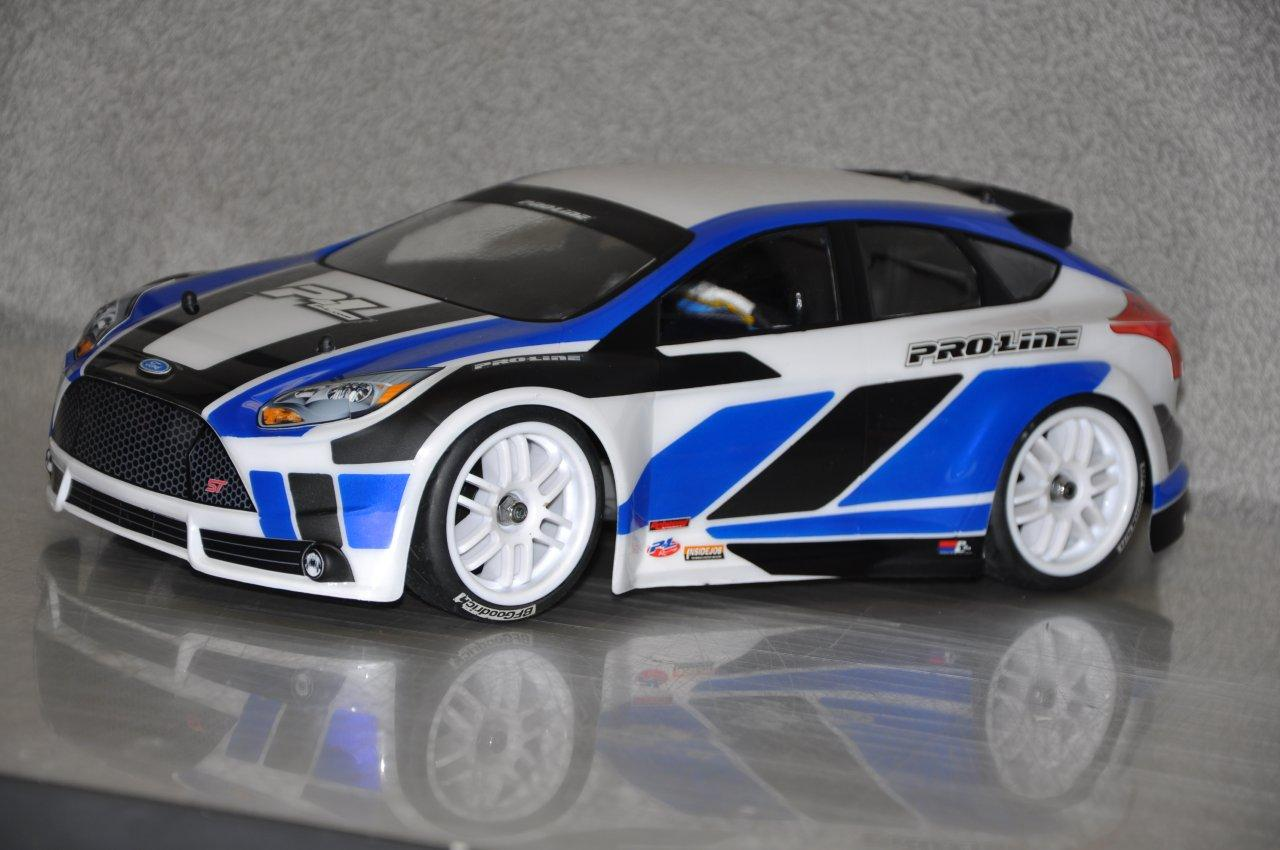 RC Car Action Exclusive: Pro-Line's New 1/16 2012 Ford Focus Body For The Traxxas 1/16 Rally Car