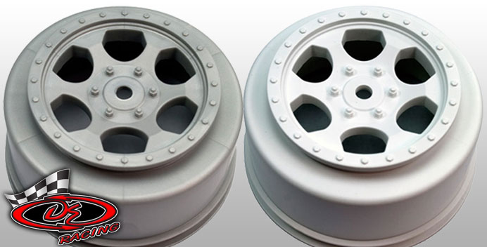 "DE Racing Releases White And Silver ""Trinidad"" SC Wheels For The Team Losi Racing Ten-SCTE"