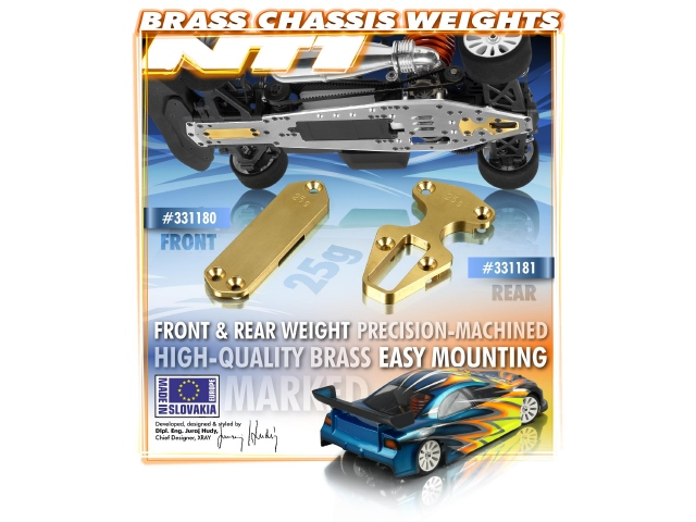 XRAY NT1 Brass Chassis Weights