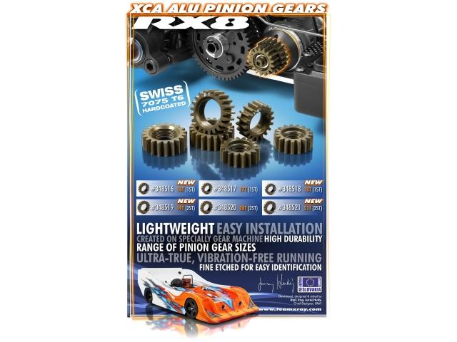 XRAY RX8 XCA Aluminum Pinion Gears