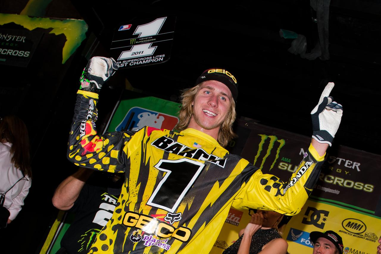 Team Associated's Justin Barcia Wins The 2011 Monster Energy Supercross Series 250 Lites East Coast Championship