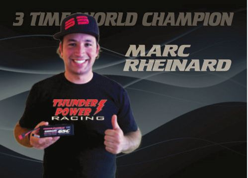 Three-Time World Champion Driver Marc Rheinard Joins Thunder Power RC