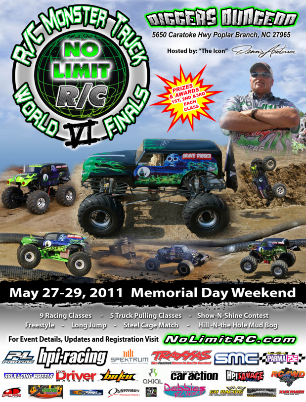 RC Monster Truck Worlds Finals: Axial Named The Official Motor