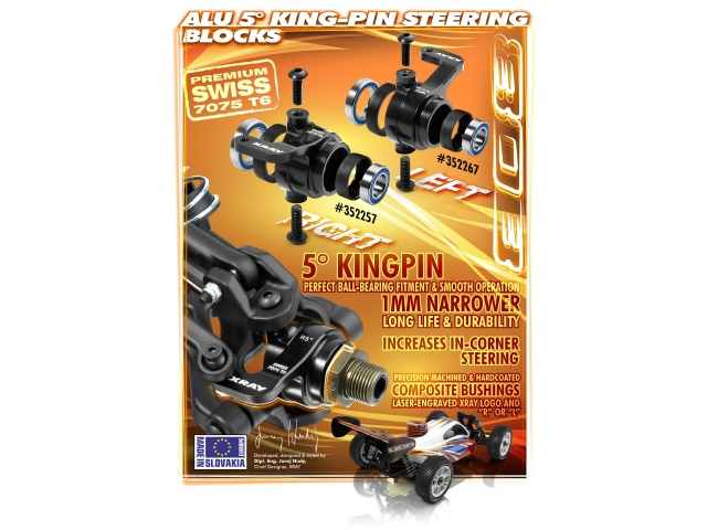XRAY XB808 Alu 5° King-Pin Steering Blocks
