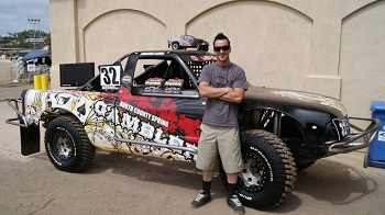 Jonathan Elkins' #32 Venom Gambler Pro Lite Short Course Truck At The Red Bull Triple Set Event