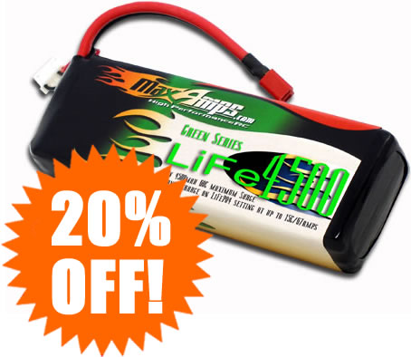 Huge Blowout Sale From MaxAmps.com – 20% Off Green Series LiFe Packs