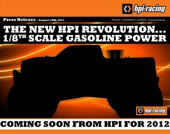 HPI 1/8 Gasoline Powered Monster Truck Teaser