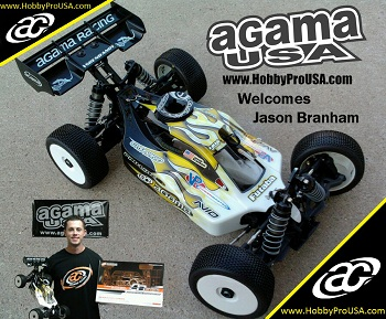 RC Pro Series 1/8 Buggy National Champion Jason Branham Joins Agama USA