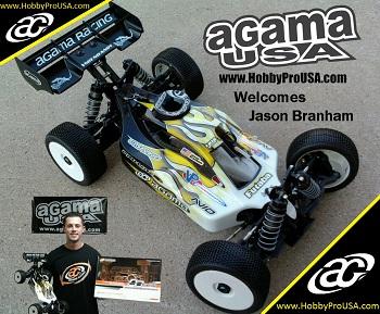 RC Pro Series 1/8 Buggy National Champion Jason Branham Joins Agama USA