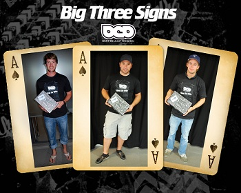 DirtChamp Design Signs With The Big Three