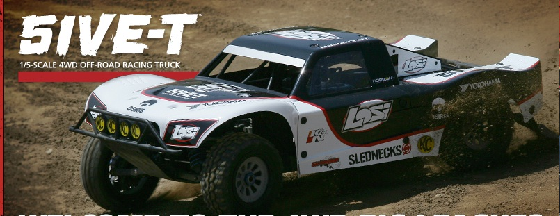 Losi 5IVE-T 1/5-scale 4WD Short Course Truck Announced–Videos & Photos Added!