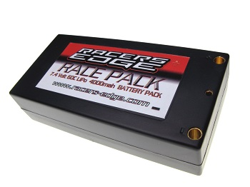 Racers Edge 7.4V 4000mah 60C Short Lipo Battery Pack