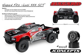 JConcepts Hazard And Rulux Wheels For The Losi XXX-SCT And XXX-SCB