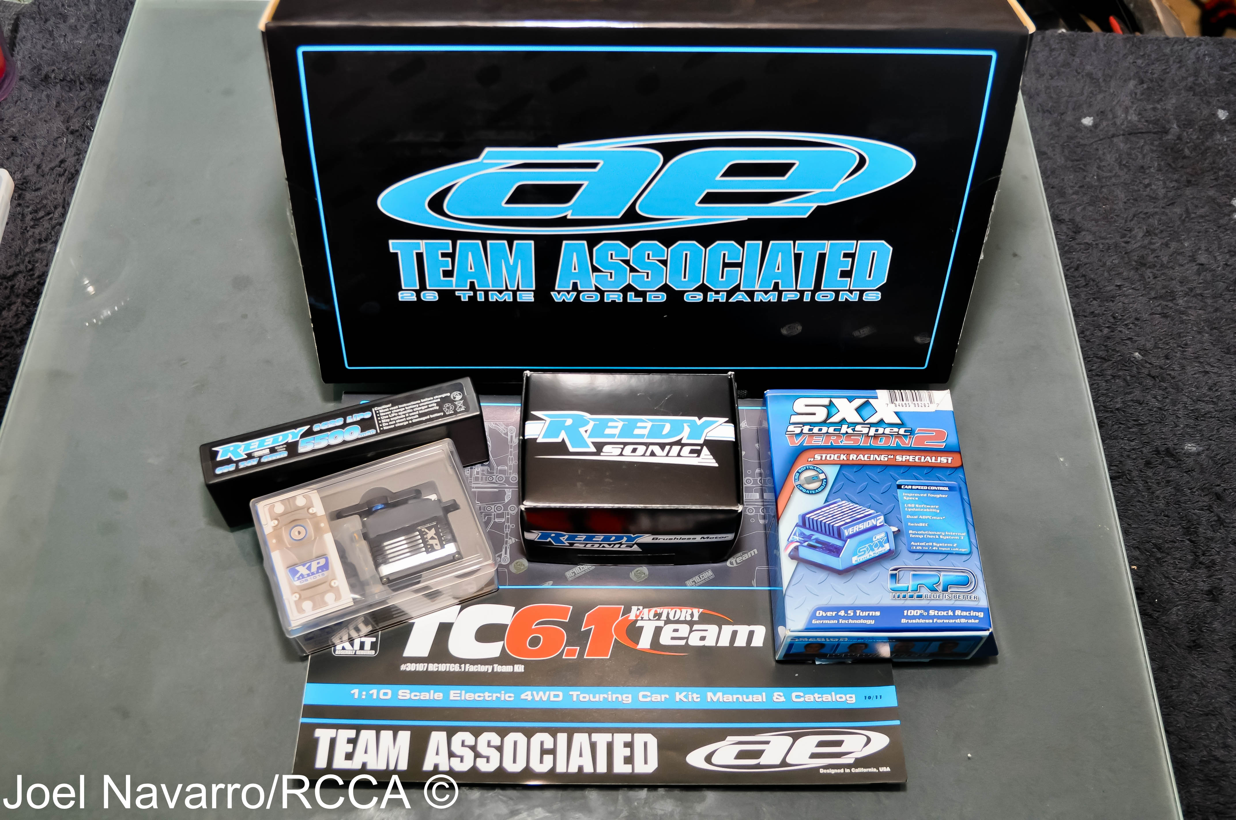 Associated sent me the TC6.1 sedan along with all the goodies that will be going in it.