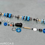 Most car kits have you assemble the shocks last, AE does it first which is fine by me. Assembling shocks is sometimes messy and I like to get it over with. The TC6.1 shocks went together though with little to no mess at all.