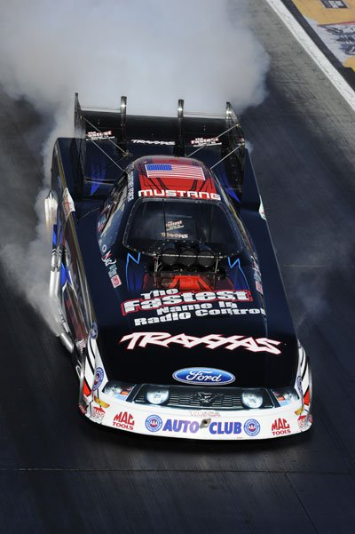 Traxxas' Courtney Force sixth overall after day one of NHRA qualifying.
