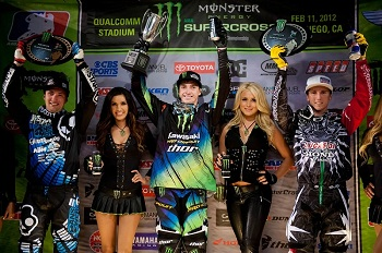 Traxxas Sponsored Rider Dean Wilson Leads 250 West Points Series With Victory At Qualcom Stadium