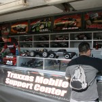 Spectators could pick up Traxxas product in this huge trailer while watching Traxxas action videos.