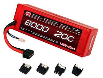 Venom 20C 2S 8000mAh 7.4V Hard Case LiPo