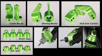 Traxxas Green-Anodized Aluminum Accessories For Grave Digger