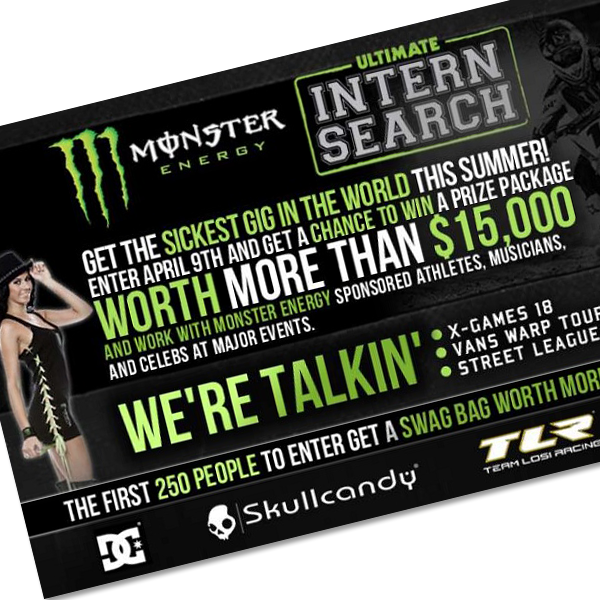 "Monster Energy And Horizon Hobby/TLR Team Up To Find ""Ultimate Intern"""