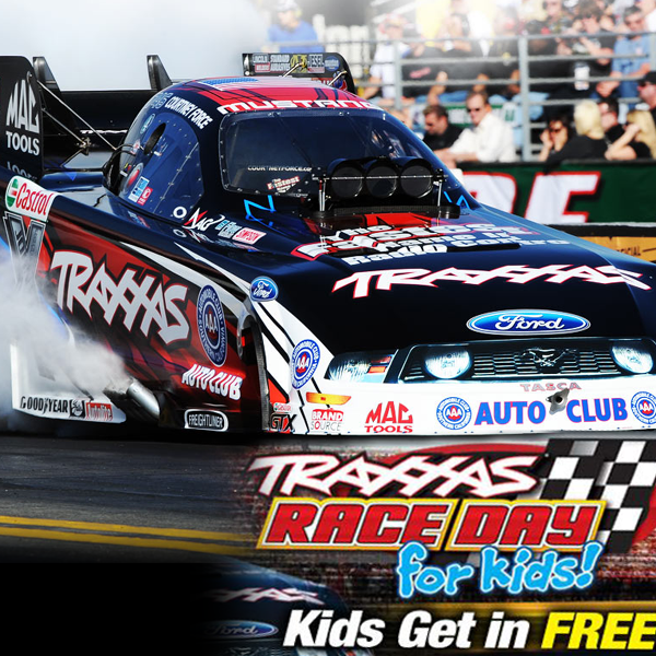 Kids Get In Free At NHRA 4-Wide Nationals Courtesy Of Traxxas
