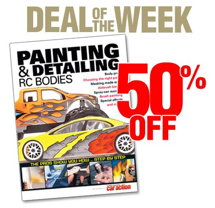 "Air Age Store Deal Of The Week: 50% off ""Painting and Detailing RC Bodies"""