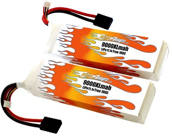 MaxAmps.com 9000mah 3-cell LiPo Pair For The Traxxas XO-1