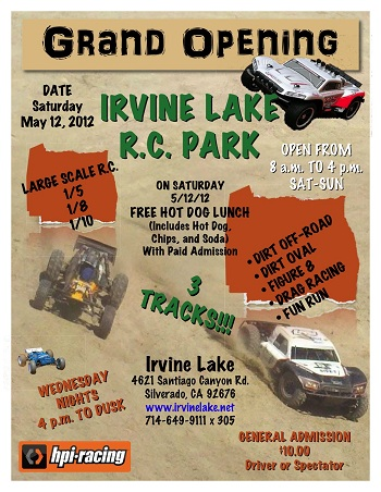 5th Scale Baja Track Grand Opening May 12th At Irvine Lake R.C. Park