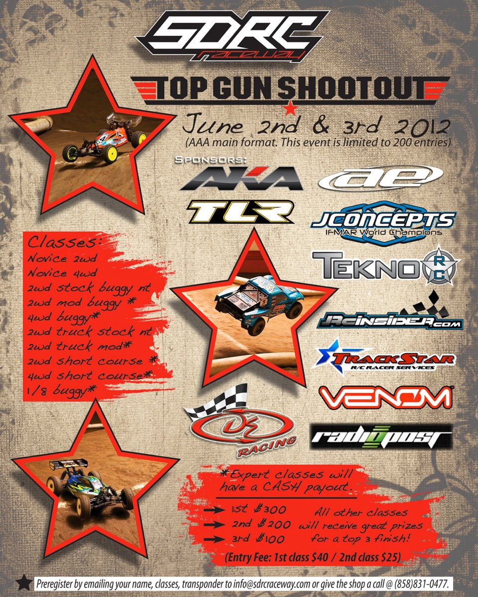 Top Gun Shootout [Cash Payouts to the winners!] @ SDRC Raceway, June 2nd & 3rd