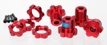 Traxxas Red Anodized Upgrades For Slash 4X4, Stampede 4X4, Summit, And Revo Models
