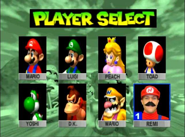 Man Goes Mario Kart