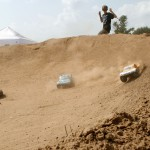 The big track's high-speed banked turn made for some awesome shots, dirt trails and all.