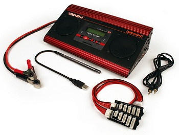 Venom Medion Dual 10 Amp DC Charger With Integrated Speakers