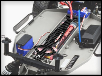 JConcepts Slash Hazard Wheel, Pre-mounts And Monroe Battery Brace