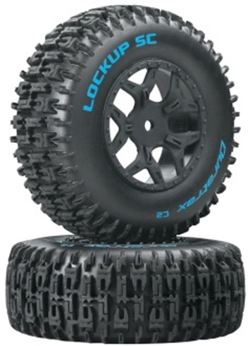 Duratrax Pre-Mounted SC Tires For Team Associated SC10 And Losi SCTE