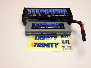 Trinity Titanium 7.4v 4500mah 50c 2S LiPo With Traxxas Connectors