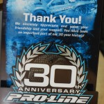 Pro-Line had these special plaques made for all attendees.