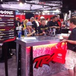TORC star Rob MacCachren and motocross wiz kid Ashley Fiolek were in the Traxxas booth for a little meet and greet.